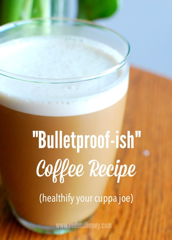"If you are familiar with the Bulletproof Coffee obsession that has grown over the last few years, you'll soon understand why I had to add the ""ish"" on there. I like the concept... but the execution needed tweaking for my own real food standards. This is now the only way we take our coffee at home, every morning!"