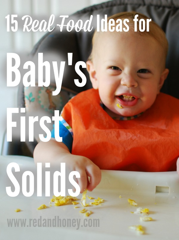 Introducing solids to a real food baby doesn't have to be a bland, boring, or highly-processed experience! Give your babies whole, real foods to help them develop great lifelong eating habits.