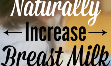 "Image of a woman breastfeeding her baby with text overlay, ""7 Ways to Naturally Increase Breast Milk Supply""."