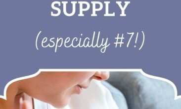 """Pinterest pin, image is of a woman breast feeding her baby. Text overlay says, """"7 Ways to Naturally Increase Breastmilk Supply - especially #7!""""."""
