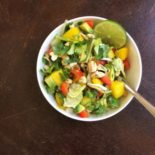 Thai Mango Salad with a Cashew Ginger Dressing