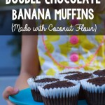 Grain-Free Double Chocolate Banana Muffins (made with coconut flour)