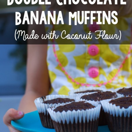 Grain-Free Double Chocolate Banana Muffins (made with coconut flour!)