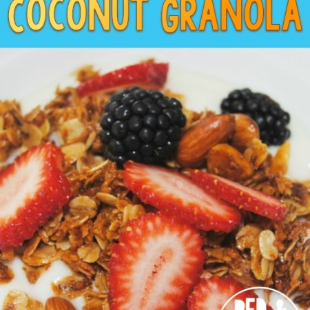 Maple and Shredded Coconut Granola - R&H main
