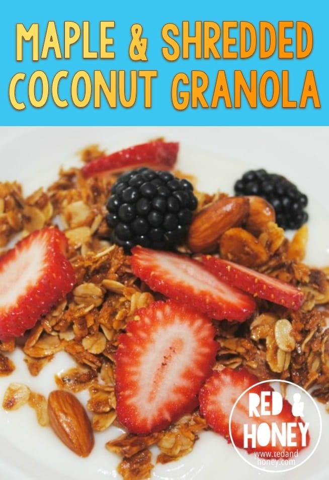 Maple and Shredded Coconut Granola - R&H main