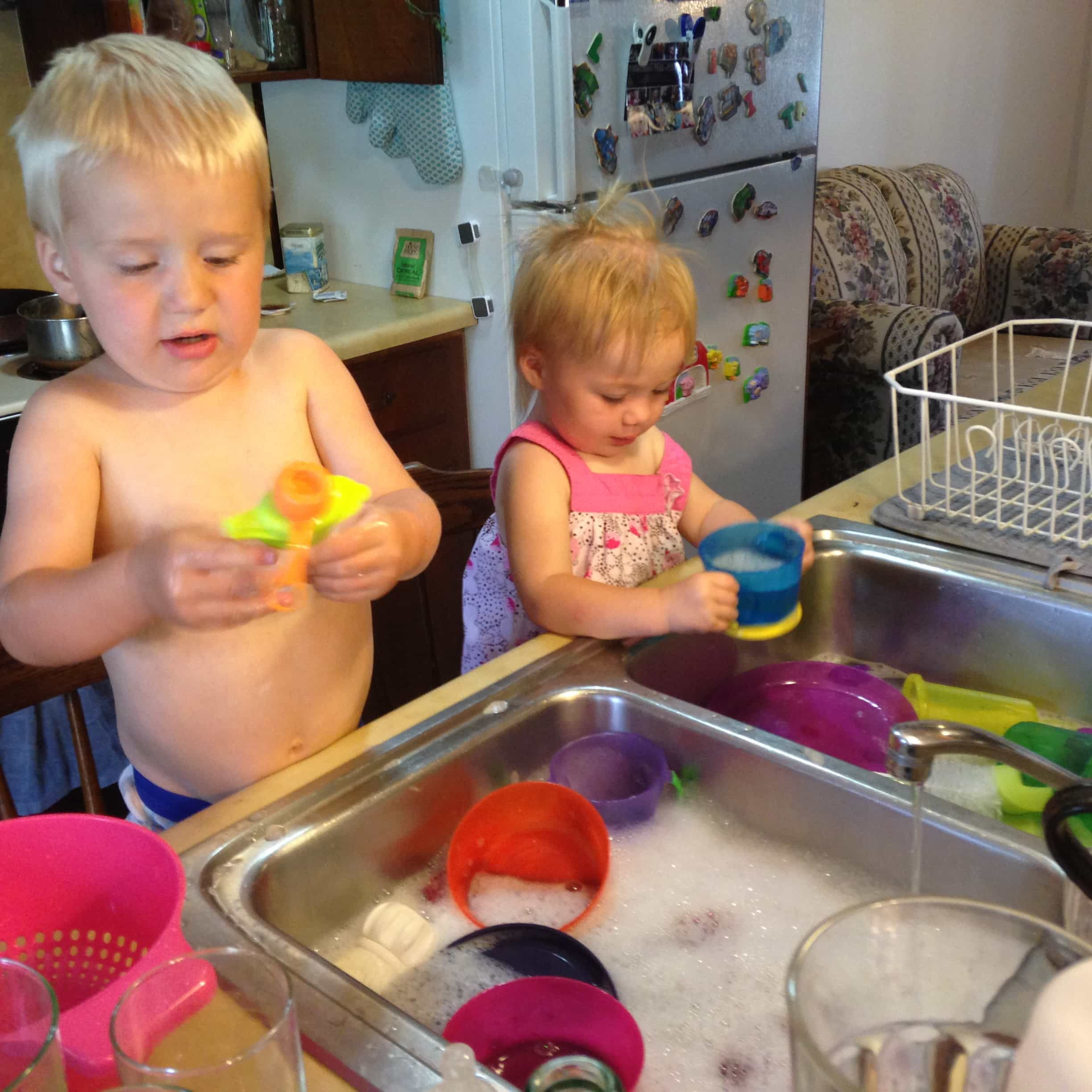 4 Double sinks are handy for two kids