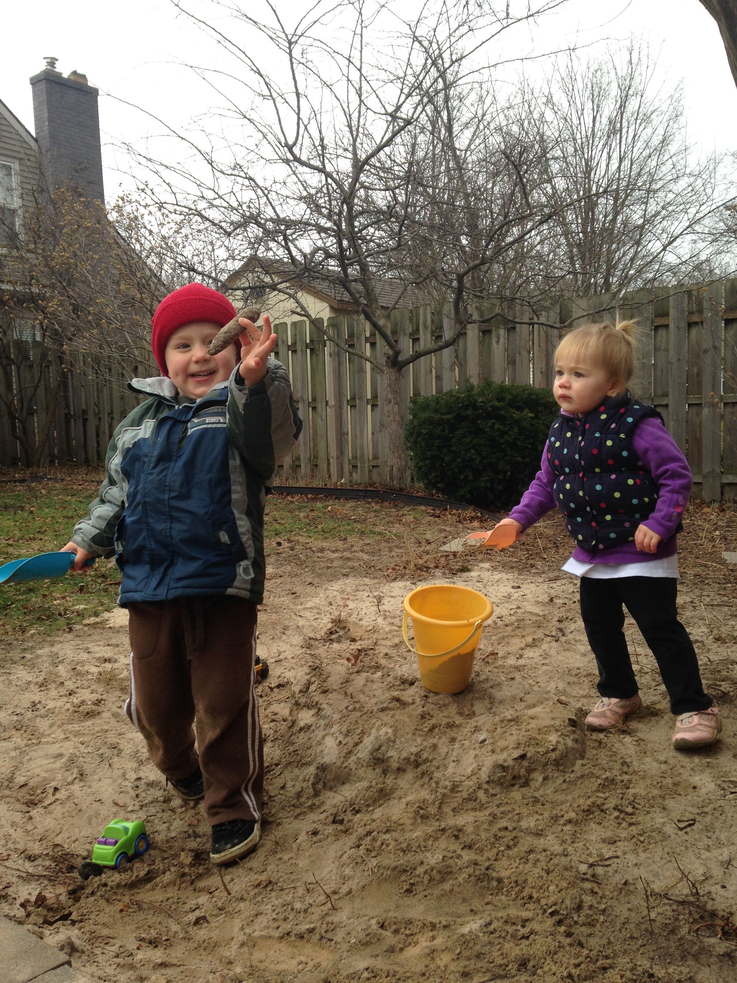 7 Even in December no snow means we can play in the sand