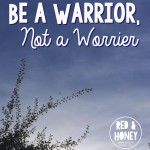 Be a Warrior, Not a Worrier
