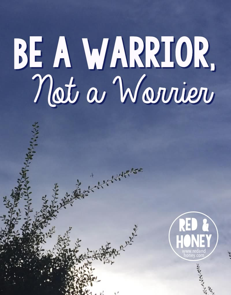 Be a Warrior Not a Worrier - R&H main