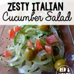 Zesty Italian Cucumber Salad Recipe