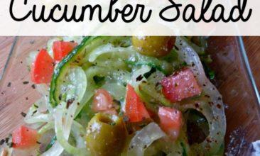 Zesty Italian Cucumber Salad Recipe