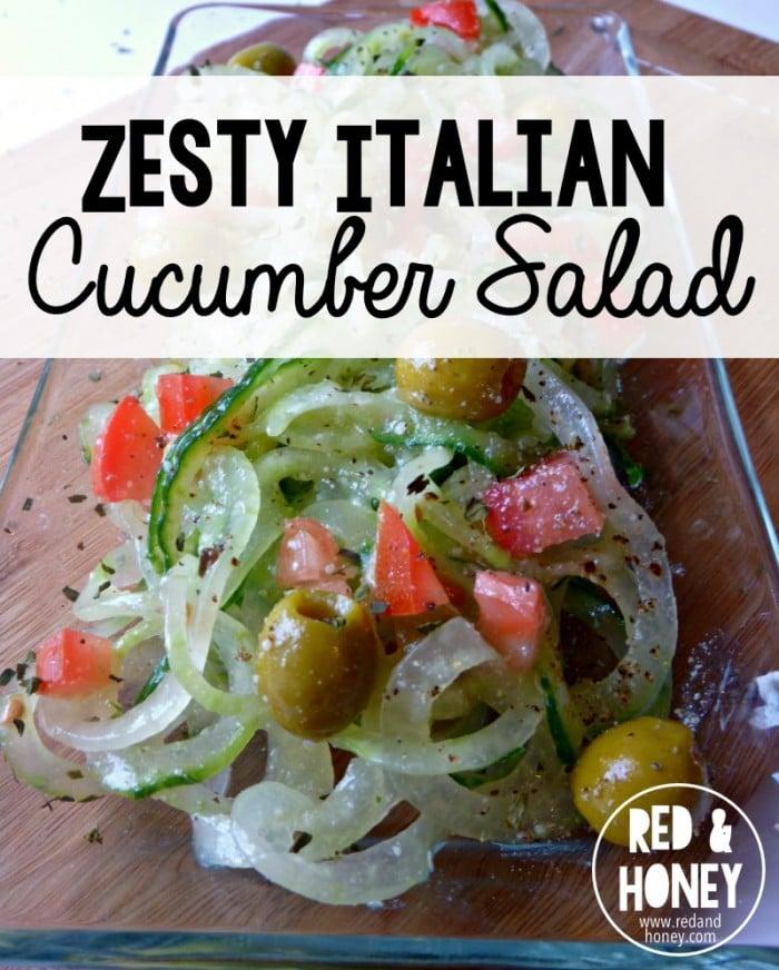 Italian Cucumber Salad Recipe - R&H main
