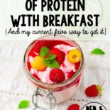 Protein is super important at breakfast time, especially those suffering from adrenal fatigue.