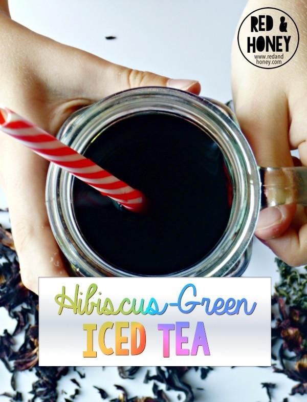 Hibiscus-Green Iced Tea