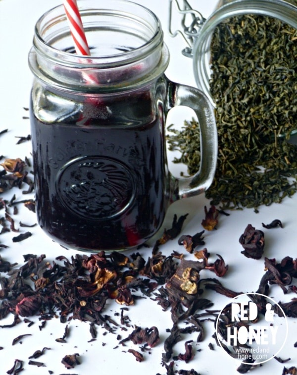 Hibiscus-Green Iced Tea2