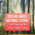 Special Needs, Natural Living, and Figuring Out What Really Matters