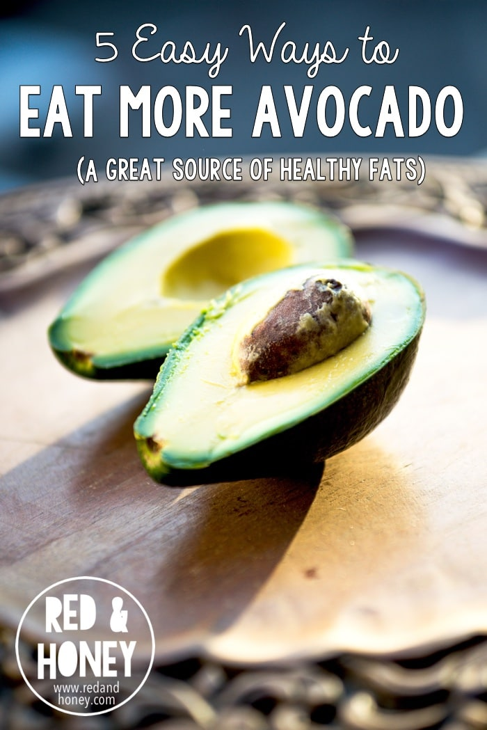 Avocados have more potassium than bananas, are high in heart-healthy fats and anti-oxidants, have a good dose of fiber, and are helpful for increasing the amount of nutrients your body can use in other foods.   Not only are they super healthy, but they make other foods even healthier for your body, too!  They're also linked to lowering inflammation in the body (and have been linked to decreasing symptoms of arthritis. Here are five simple ways to eat more of them!