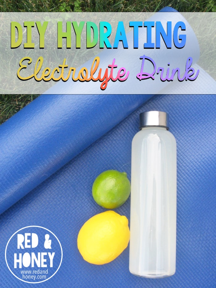 ... drink - essentially a DIY pedialyte. It's so simple, and works so well