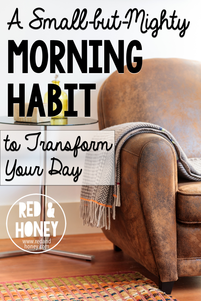 I used to be in the habit of doing this every morning, but then somehow got off the routine. Now that I'm back, it feels so satisfying, and makes a huge difference to my days.
