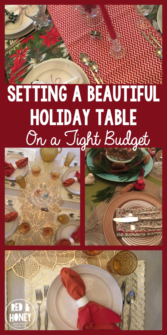 It's hard to ignore all the ads and marketing and Pinterest pins flying about at this time of year, but there's no reason why we should feel like our celebrations are held to a certain standard — or what's more — to a certain price tag, as we plan to welcome loved ones to our homes and tables.  Instead, and with a little creativity and inspiration, you can craft a setting that is both lovely and simple. (The author spent less than $4 total!)