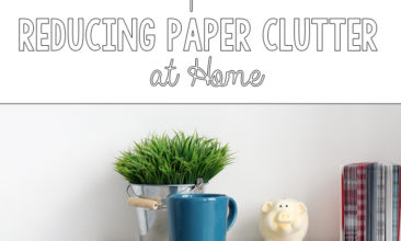 3 Tips for Reducing Paper Clutter at Home