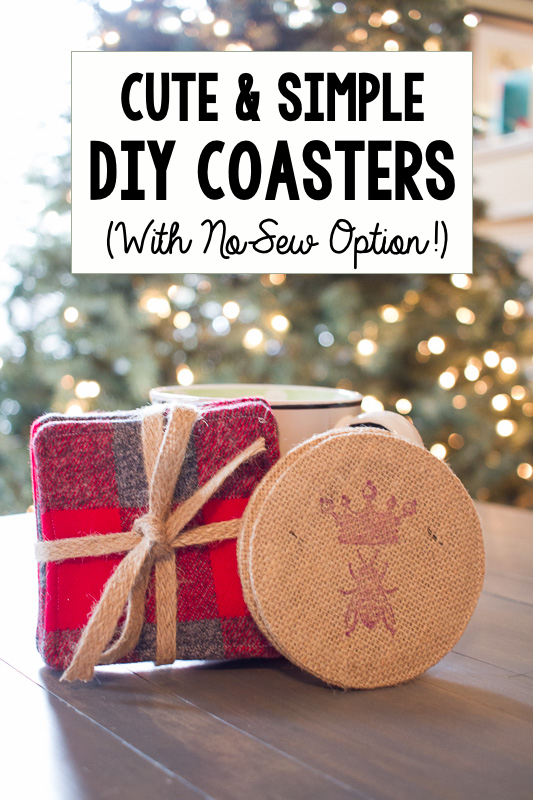 Cute & Simple DIY Coasters (with no-sew option!) - Red and Honey
