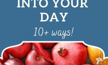 """Pinterest pin, image is of a bunch of fruit and veggies. Text overlay says, """"How to Sneak More Fruits & Vegetables Into Your Day - 10+ ideas!""""."""