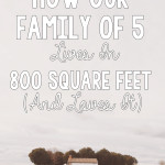 How Our Family of 5 Lives in 800 Square Feet and Loves It