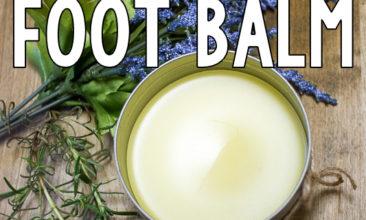 DIY Natural Decongestant Foot Balm