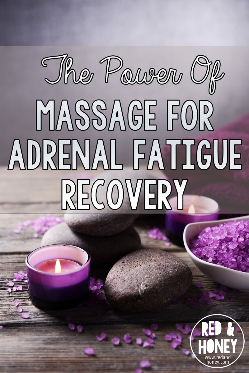 """Massage for adrenal fatigue is actually an ingenious addition to my healing protocol because it has a direct, measurable impact on your biochemistry!"" \\ YES! Finally a healthy change that feels more like a treat in this adrenal fatigue recovery process. :)"