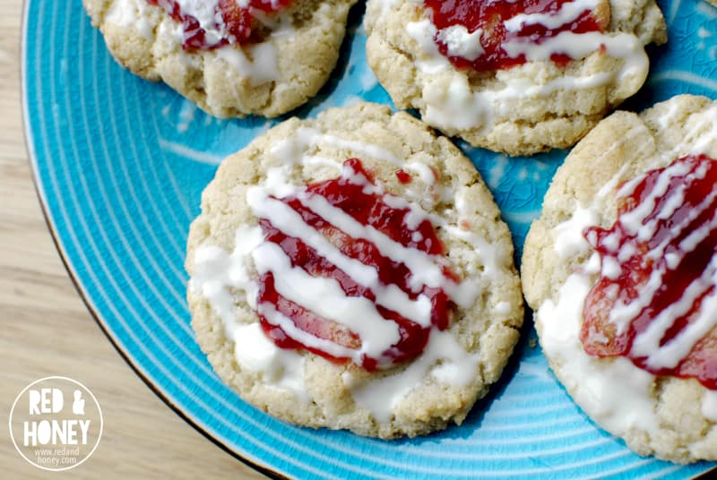 Raspberry Double White Chocolate Cookies - R&H1