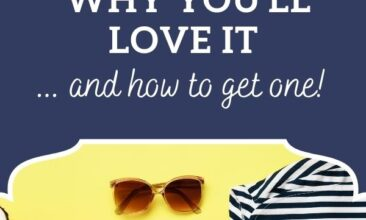 """Pinterest Pin, image is of an outfit layed out, each piece neatly folded on a yellow surface. Text overlay says, """"Capsule Wardrobe: What it is and why you'll love it."""""""