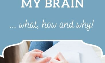 "Pinterest Pin, images shows a person writing in their notebook. Text Overlay says ""How I use Mind Mapping to Declutter my Brain!"""