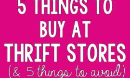 "I've scored some seriously amazing deals at thrift stores, but there are a few things at which I draw the line. I totally agree with this list, especially #2 on the ""no"" list!!"