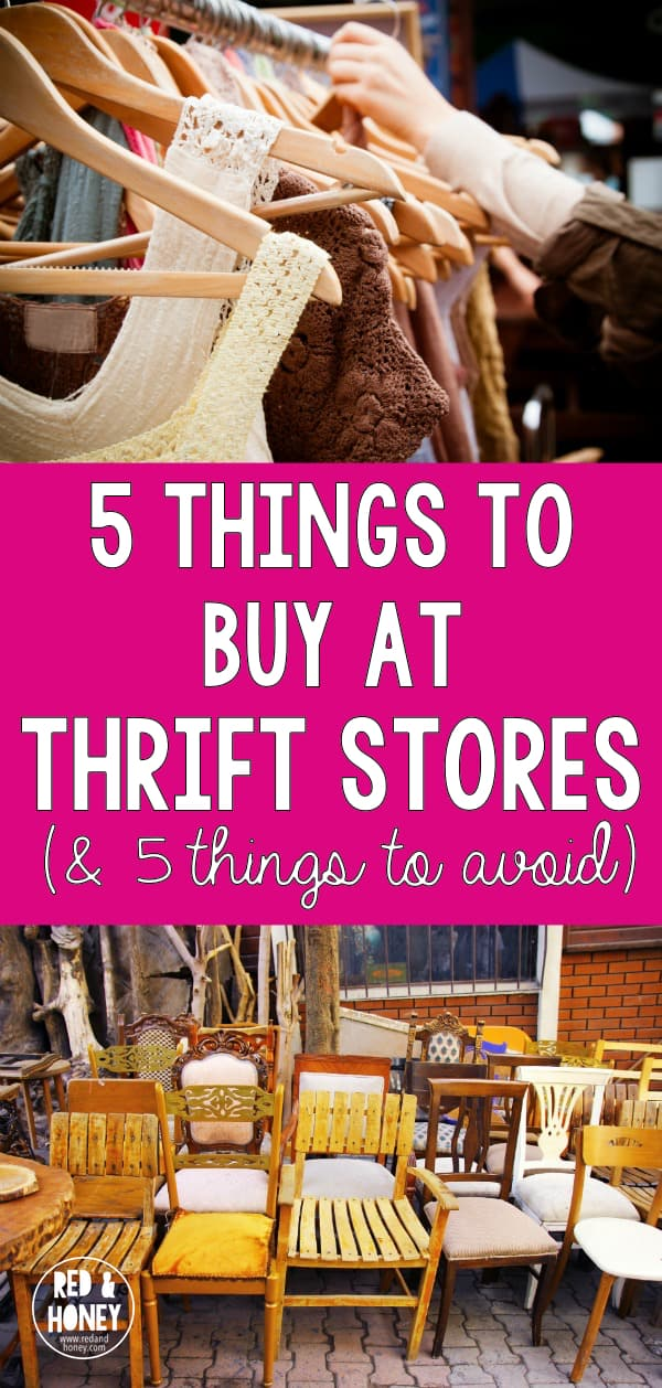 """I've scored some seriously amazing deals at thrift stores, but there are a few things at which I draw the line. I totally agree with this list, especially #2 on the """"no"""" list!!"""