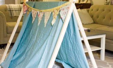 This simple DIY tent will provide hours of imaginative fun. Love this!