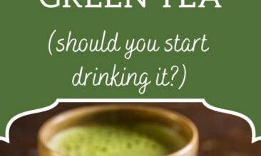 """Pinterest pin, image is of a cup of matcha green tea with a bowl of green tea powder. Text overlay says, """"5 Incredible Benefits of Matcha Green Tea: should you be drinking it?"""""""