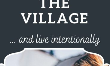"Pinterest pin collage, first image is of a group of women laughing together. Text overlay reads ""6 Ways I'm Trying to Bring Back the Village"""