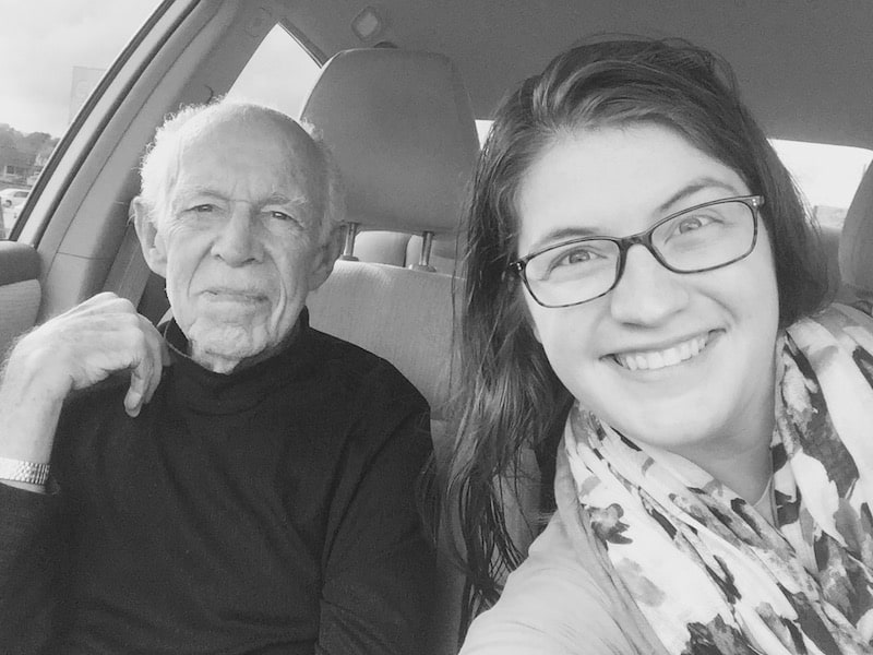 This is my 86-year-old grandpa. He is a Navy veteran. He used to make all kinds of things out of leather and he's sold knives for over 40 years. I really think he's the most interesting man in the world.