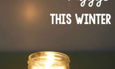 "Image of a candle sitting on a table top with text overlay that says, ""10 Ways to Create Hygge This Winter""."