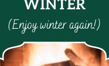 "Pinterest Pin, image is of 2 mugs in front of a fire. Text Overlay reads ""10 Ways to Create Hygge this Winter."""