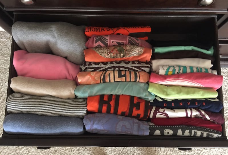T-shirt drawer.