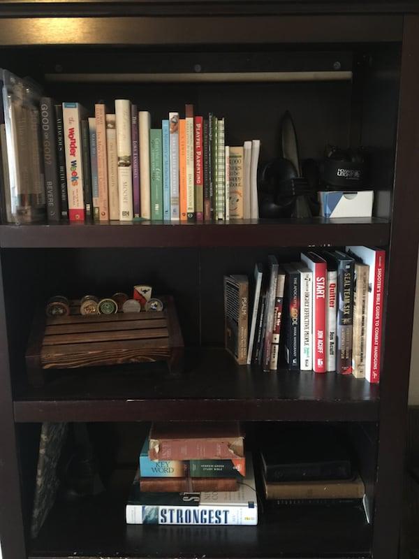 Non-fiction shelves.