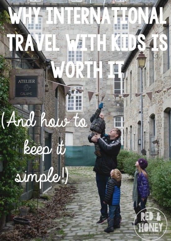 Travel with kids pinnable