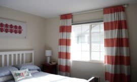 No-sew DIY light blocking curtains for better quality sleep.