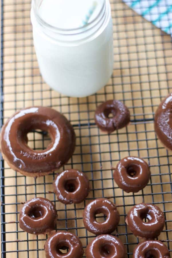 Baked Grain-free Chocolate Doughnuts - Red and Honey