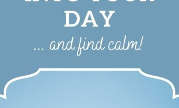 """Pinterest pin, image is of a branch of cherry blossoms in bloom. Text overlay says, """"5 Ways to Invite Silence into Your Day: ...and find calm!"""""""