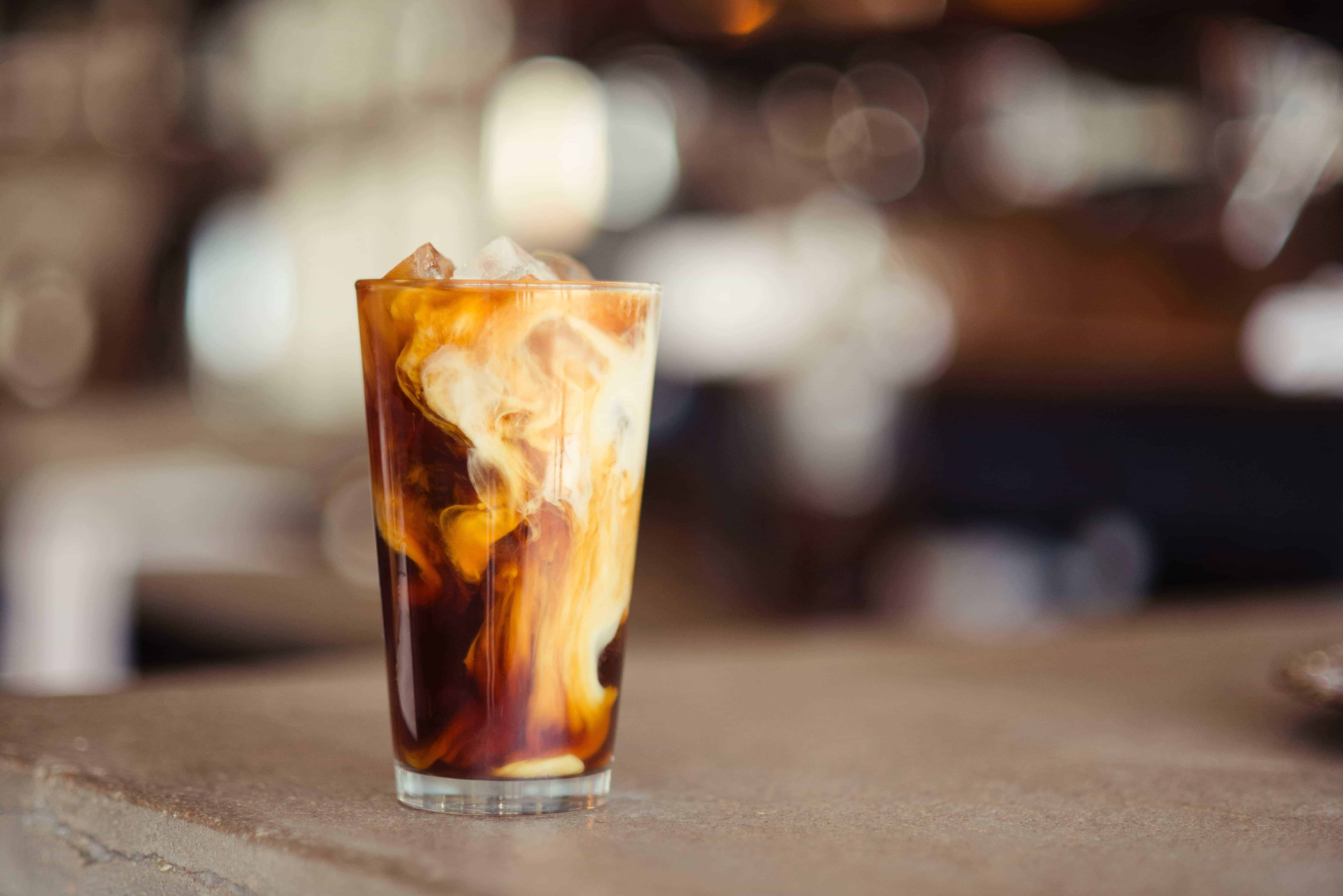 floral-infused iced coffee recipe!