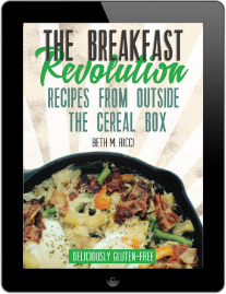 an ipad image of a digital cookbook called The Breakfast Revolution: Recipes from Outside the Cereal Box