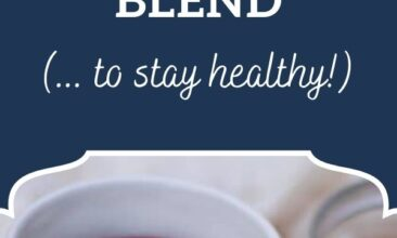"""Pinterest pin, image is of a mug of tea. Text overlay says, """"Immune-Boosting Tea to stay healthy!"""""""